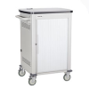 36-Device iPad and Tablet Cart - Single Frame and Sliding Door -- UCCSS-12-36T