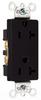 Duplex/Single Receptacle -- 26352-BK -- View Larger Image