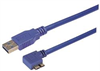 USB 3.0 Type A straight to Micro B right angle exit 0.3M -- CA3A-90RMICB-03M -Image
