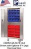 STAINLESS BI-FOLD DOOR CABINETS -- HBDSC-SS-3678-18