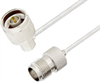 N Male Right Angle to TNC Female Cable Assembly using LC085TB Coax, 2 FT -- LCCA30582-FT2 -Image