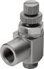 GRLZ-M5-RS-B One-way flow control valve -- 151186-Image