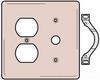 Standard Wall Plate -- NP128AL - Image