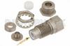 75 Ohm SMC Jack Bulkhead Connector Clamp/Solder Attachment For RG180, RG195, .285 inch D Hole -- PE4283 -Image