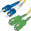 Corning 9/125 Single-mode ST-SC/APC Duplex Fiber Cable - Plenum-Rated -- 825-288-LLL - Image