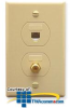 ICC 6P6C RJ-11 Voice and F-Type Designer Wall Plate -- IC630S6G