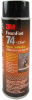 3M Foam Fast 74 Spray Adhesive Clear 24 oz Aerosol -- 74 CLEAR 24 OZ