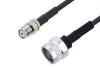 Mini UHF Female to N Male Cable 60 Inch Length Using LMR-195 Coax with HeatShrink -- PE3W06032/HS-60 -Image