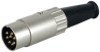 SWITCHCRAFT - 15BL8MX - CONNECTOR, DIN AUDIO, PLUG, 8WAY -- 624538