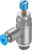 One-way flow control valve -- GRLA-1/8-QS-3-RS-D -Image