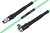 Temperature Conditioned SMA Male to SMA Male Right Angle Low Loss Cable 30 Inch Length Using PE-P160LL Coax -- PE3M0182-30 -Image