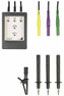 Phase sequence indicator with light-emitting diodes, with leads,contact-protected plugs, 3 probes and 1 alligator clip -- Gossen Metrawatt PhaseCop 2 (GTM5202000R0001)