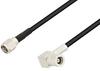 SMA Male to SMB Plug Right Angle Cable 36 Inch Length Using RG174 Coax -- PE3W04476-36 -Image