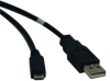 USB 2.0 Hi-Speed A to Micro-B Cable (M/M) 10-ft. -- U050-010