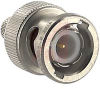 Connector, Crimp;50 Ohms;Straight;Coaxial;BNC;Gold;Plug;Brass;Teflon;Nickel -- 70042529 - Image