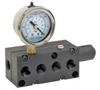 Multi-port Venturi Vacuum Pumps w/ Optional Solenoid Valve - Mid Series -- VP20/VP20BV-MP