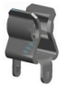 Snap in PC Fuse Clip with Oreintation Leg -- 3512P