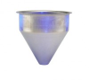 Stainless Steel Seamless Hopper Funnel, 1.5 Gal., 8.85