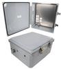 14x12x06 Polycarbonate Weatherproof Outdoor IP66 NEMA 4X Enclosure, 240 VAC Universal Outlet MNT PLT, Mechanical Thermostat Heat DKGY -- TEPC141206-EH0 -Image