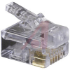 CONNECTOR,EZ-RJ12 MODULAR PLUG,CATEGORY5,FOR TWISTED PAIR CABLE -- 70000362