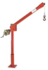 Davit Crane,Portable,500Lb,0-120In,Red -- 5122M1 WITH WA19-20NS