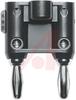 Banana Plug, Standard, Double, Black -- 70197120