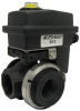 "1"" Polypropylene 3-Way Actuated Valve -- KZ13FM -- View Larger Image"