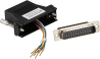 Modular Adapter Kit DB25M To RJ45F w/ Thumbscrews Black -- FA4525M-BK -- View Larger Image