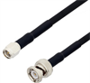SMA Male to BNC Male Cable Assembly using RG223 Coax, 6 FT -- LCCA30355-FT6 -- View Larger Image