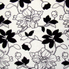 Floral Flock on Textured Ground Fabric -- R-Dodi -- View Larger Image