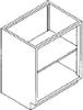 Standard Steel Laboratory Cabinet, Open Front -- 000 Series