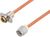 Slide-On BMA Jack 2 Hole Flange to SMA Male Cable 150 cm Length Using RG402 Coax -- PE3W06981-150CM -Image