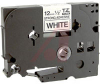 Tape; Adhesive Laminated; 1/2 in.; Black on White -- 70102217