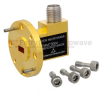 Zero Biased Waveguide Detector WR-22 to SMA Female and Negative Video Out From 33 GHz to 50 GHz Q Band, UG-383/U Round Cover Flange -- FMMT3004