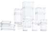 Clear Plastic Boxes with Lids -- 55373