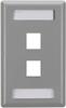2-Port Gray Single-Gang Keystone Wallplate -- WP461 - Image