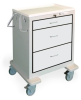 3 Drawer Short Steel Bedside/Slim Cart -- JSGKU-399-LTG