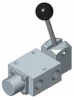 Lever Operated (Detented) Spring Return Spool Valves, 1600 Series -- View Larger Image