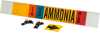 Brady B-681, B-883 Black / Blue / Orange / Red / White on Yellow Polyester Strap-On Pipe Marker - 3 1/2 in Character Height - Printed Msg = AMMONIA - 59941 -- 754476-59941 - Image