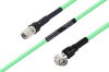 Temperature Conditioned TNC Male to TNC Male Right Angle Low Loss Cable 12 Inch Length Using PE-P300LL Coax -- PE3M0239-12 -Image