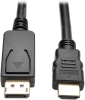 DisplayPort 1.2 to HDMI Adapter Cable, DP with Latches to HDMI (M/M), UHD 4K x 2K/1080p, 6 ft. -- P582-006-V2 -- View Larger Image