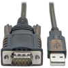 RS232 to USB Adapter Cable with COM Retention (USB-A to DB9 M/M), FTDI, 5 ft. -- U209-005-COM - Image
