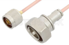 N Male to 7/16 DIN Male Cable 36 Inch Length Using RG402 Coax -- PE35963LF-36 -Image