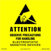 "Label, Yellow/Black 4"" x 4""  ""Attention Observe Precautions"" -- 306-4040 -- View Larger Image"