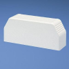 End Cap w/KO's Electrical Ivory PVC -- 07498363127-1 - Image