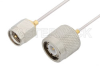 SMA Male to TNC Male Cable 18 Inch Length Using PE-SR047AL Coax -- PE34410LF-18 -Image