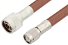 N Male to TNC Male Cable 60 Inch Length Using RG393 Coax -- PE3982-60 -Image