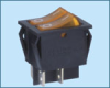 Double-poles Rocker Switch -- RS-2101-1C ON-OFF - Image