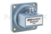 WR-102 UG-1493/U Square Cover Flange to SMA Female Waveguide to Coax Adapter Operating from 7 GHz to 10 GHz -- PEWCA1037 - Image