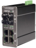 106FX2 MDR Unmanaged Industrial Ethernet Switch, ST 40km